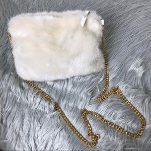 Faux Fur Fashion Crossbody Purse